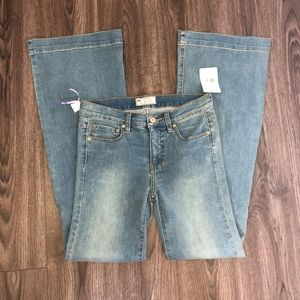 Free People W 27 Light Blue Jeans flare J2-8